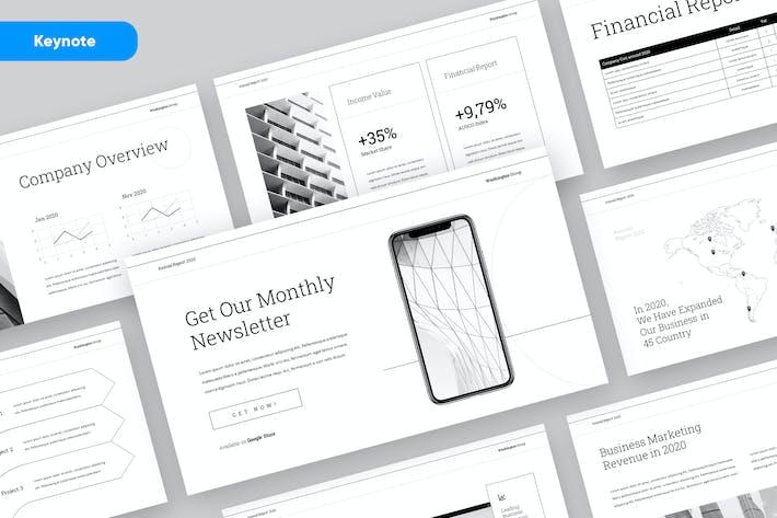 Thumbnail for BERICHT - Unternehmens- Jährlich bericht Keynote Vorlage