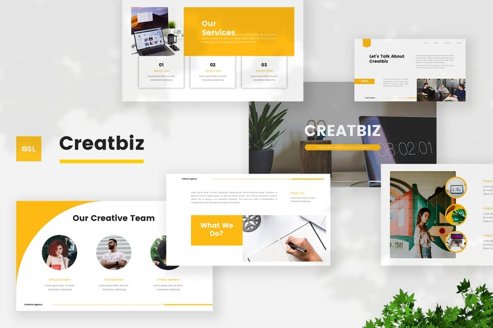 Thumbnail for Creative Business Google Slides Template