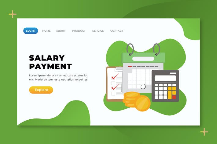Thumbnail for Salary Payment - XD PSD AI Vector Landing Page