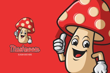 Mushroom - Mascot Logo