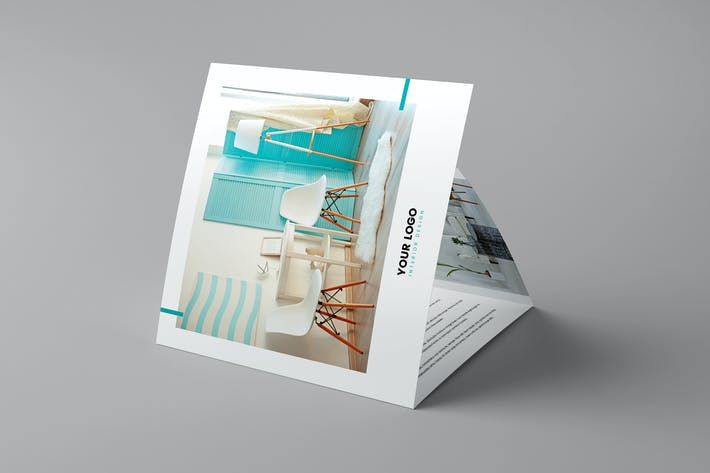 Thumbnail for Брошюра — Дизайн интерьера Tri-Fold Square