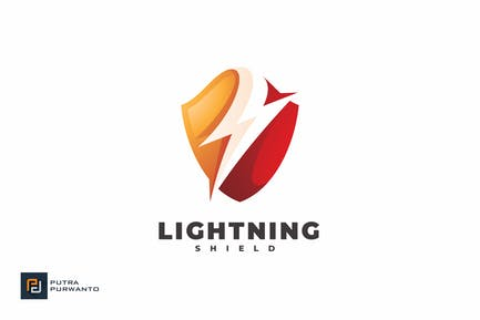 Lightning Shield - Logo Template
