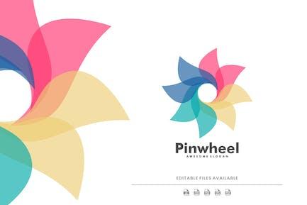 Pinwheel Colorful Logo