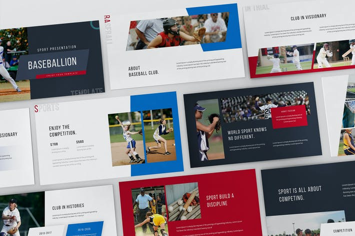 Шаблон презентации Baseballion Powerpoint
