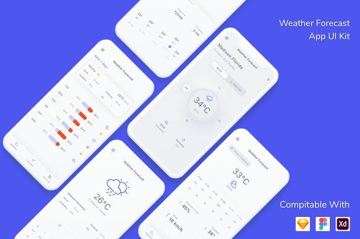 Thumbnail for Weather Forecast App UI Kit
