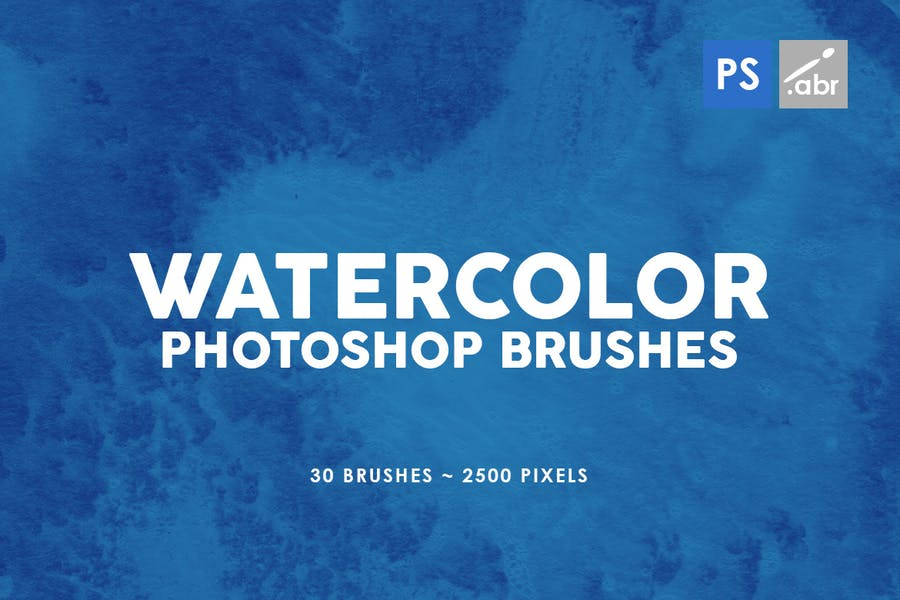 30 Watercolor Texture Photoshop Brushes Vol. 3