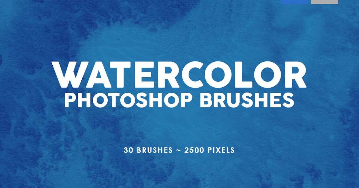 Download 30 Watercolor Texture Photoshop Brushes Vol. 3 by M-e-f