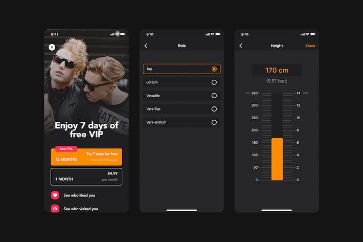 Thumbnail for Upgrade Premium UI mobile Concept for Dating app