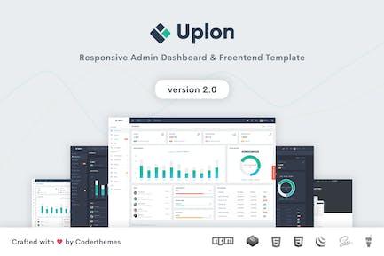 Uplon - Admin Dashboard & Landing-Vorlage