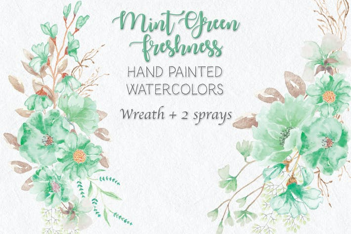 Thumbnail for Mint Green Freshness: Wreath and Sprays