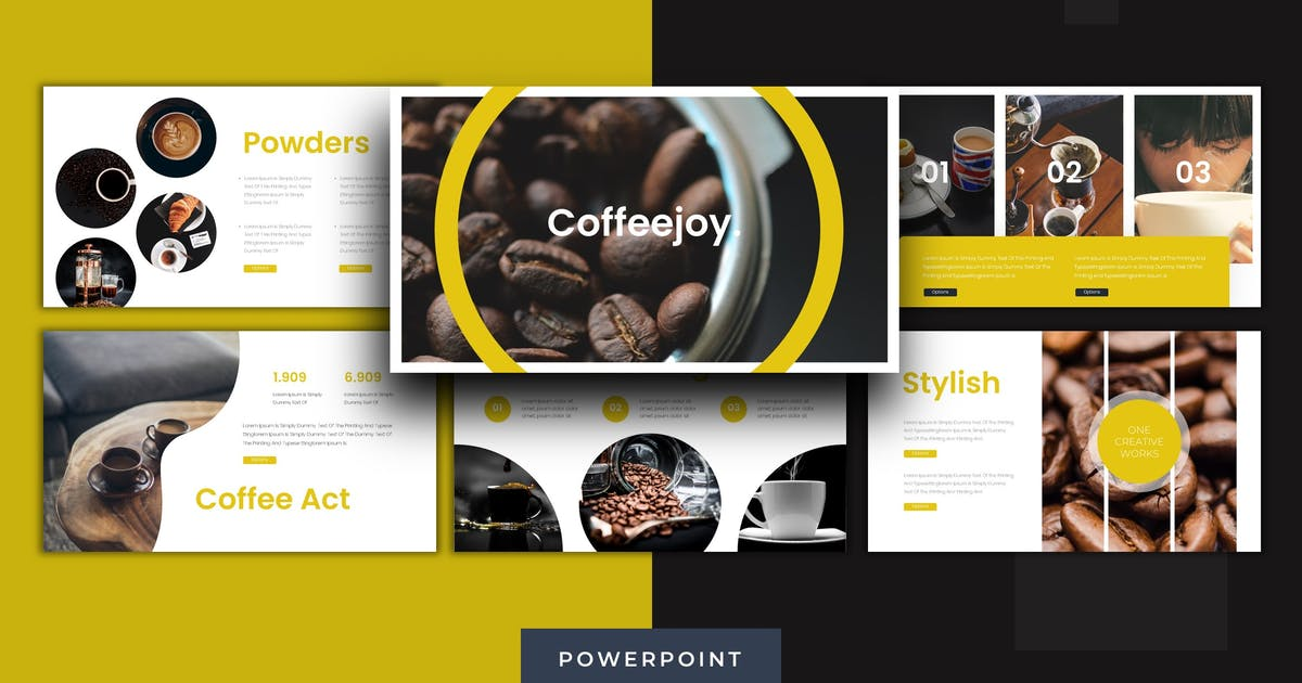 Download Coffeejoy - Powerpoint Template by karkunstudio