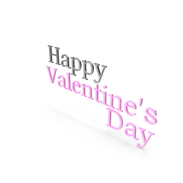 Thumbnail for Happy Valentine's Day Symbol Silver and Pink