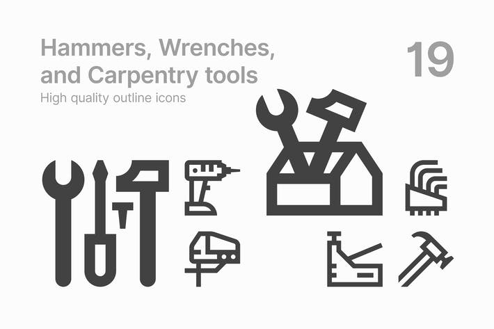 Hammers, Wrenches, and Carpentry tools