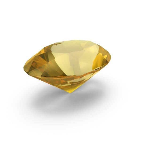 Diamond Oval Cut Yellow Sapphire