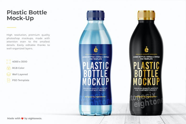 Thumbnail for Water Plastic Bottle Mock-Up Template