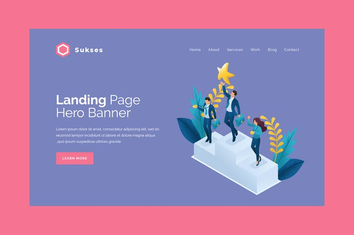 Thumbnail for Sukses - Hero Banner Landing Page