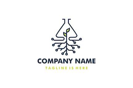 Lab Leaf Tech Root Logo