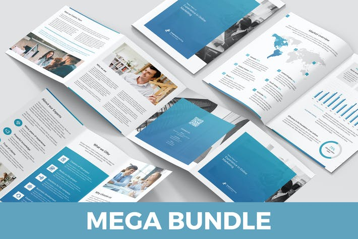 Thumbnail for Creative Marketing – Brochures Bundle 10 in 1