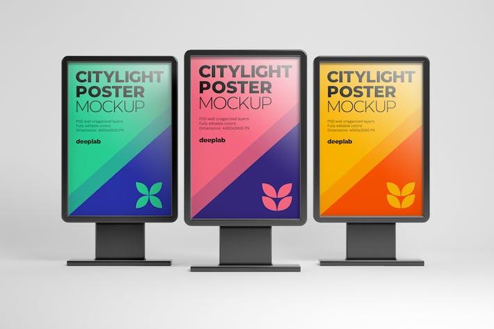 Thumbnail for Citylight Digital Poster Mockup
