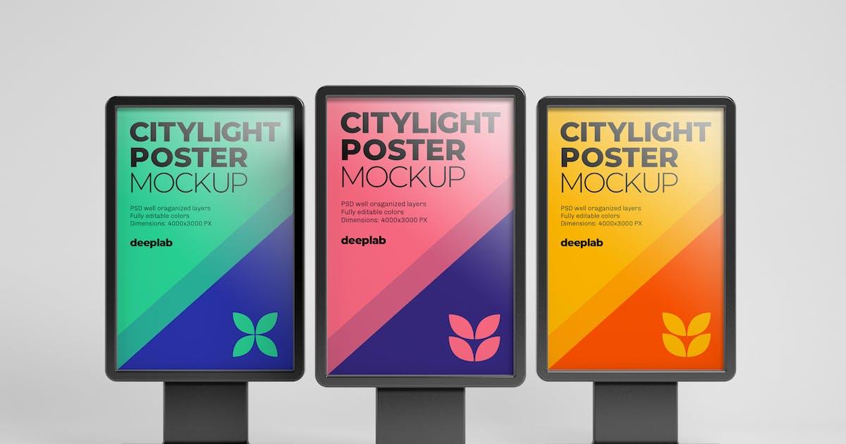 Download Citylight Digital Poster Mockup by deeplabstudio