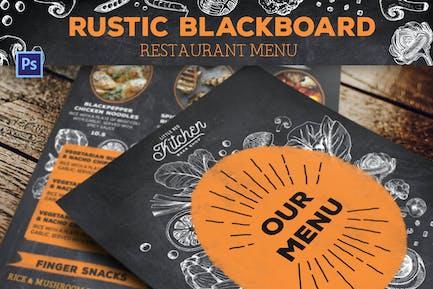 Rustic Blackboard Restaurant Menu