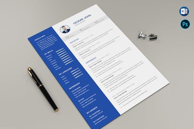CV Resume Template Microsoft Word