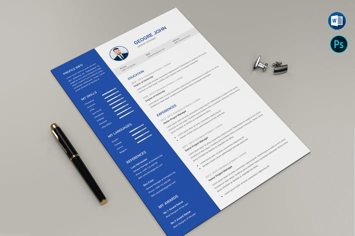 Thumbnail for CV Resume Template Microsoft Word