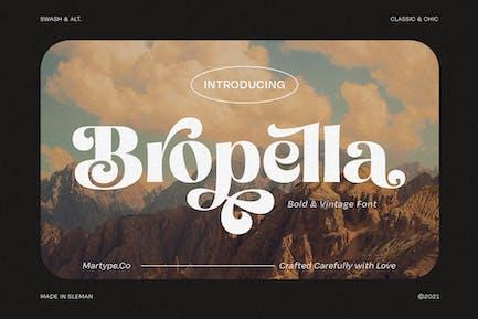Bropella - Swash Display Font