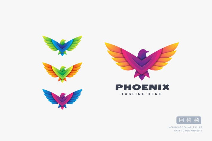 Phoenix Color - Logo Design Template