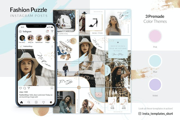 Thumbnail for Fashion Puzzle - Instagram Posts