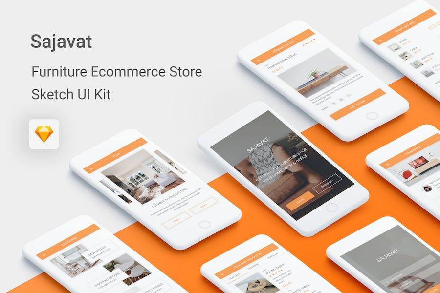 Sajavat - Furniture Ecommerce Store for Sketch