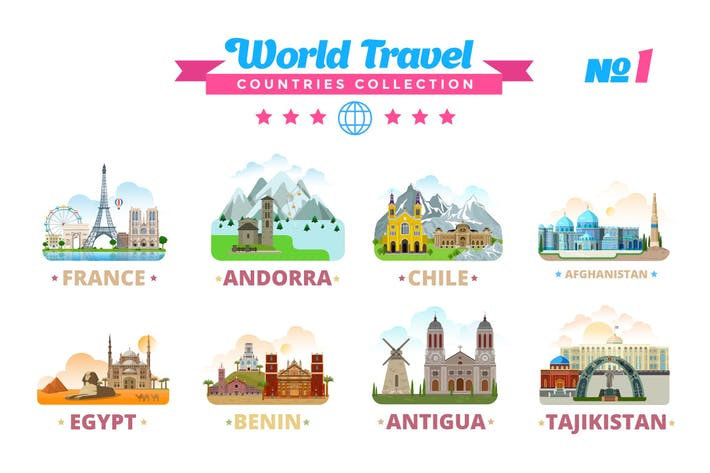 Thumbnail for World Travel Countries Collection 1
