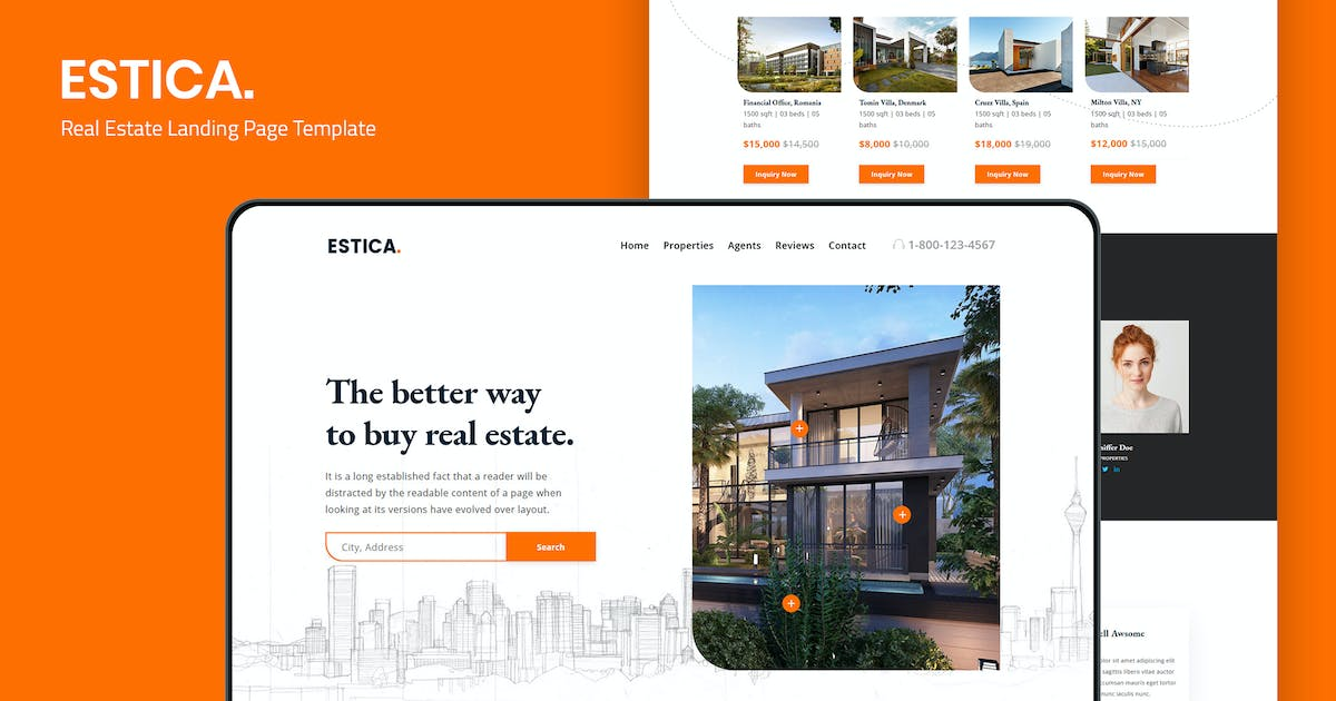 Download Estica — Real Estate Landing Page Template by thememor