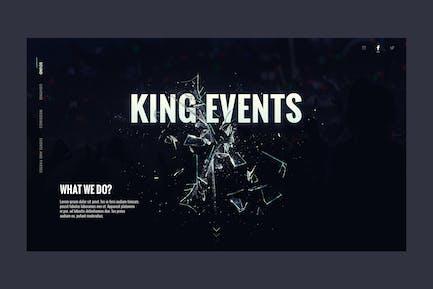 Atterrissage du site Web de l'événement