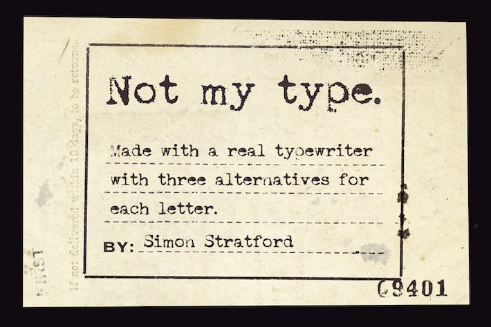 Thumbnail for Not my type typewriter font