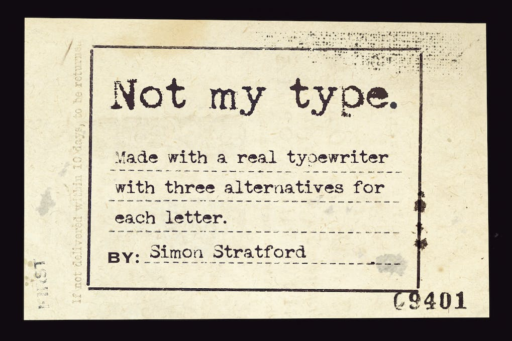 Not-my-type-typewriter-font