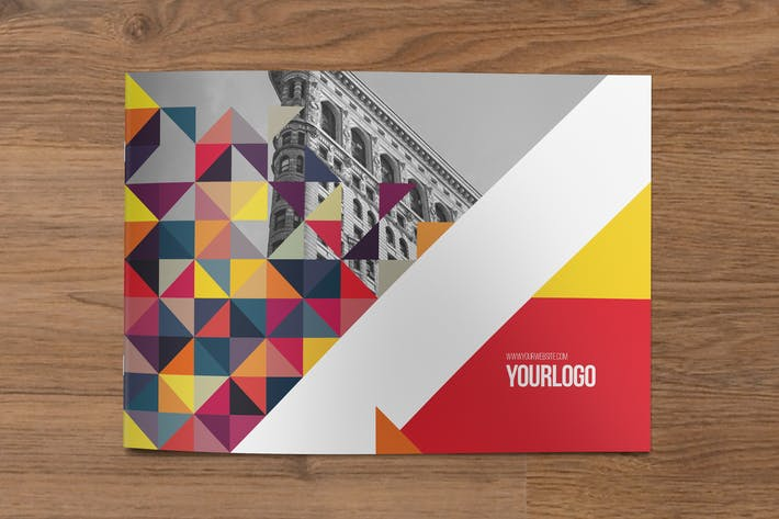 Thumbnail for Colorful Triangles Brochure