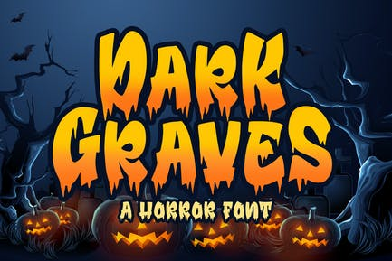Dark Graves - a Horror Font