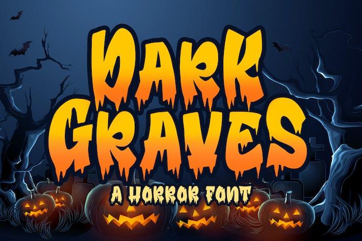 Thumbnail for Dark Graves - a Horror Font