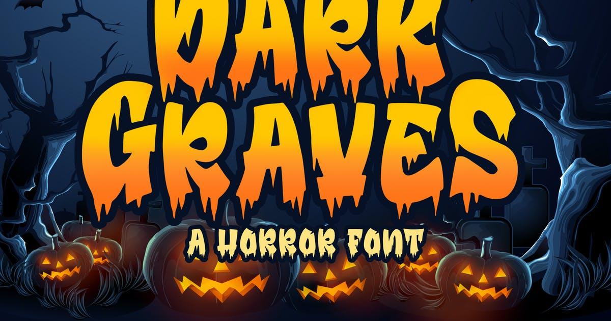 Download Dark Graves - a Horror Font by Blankids