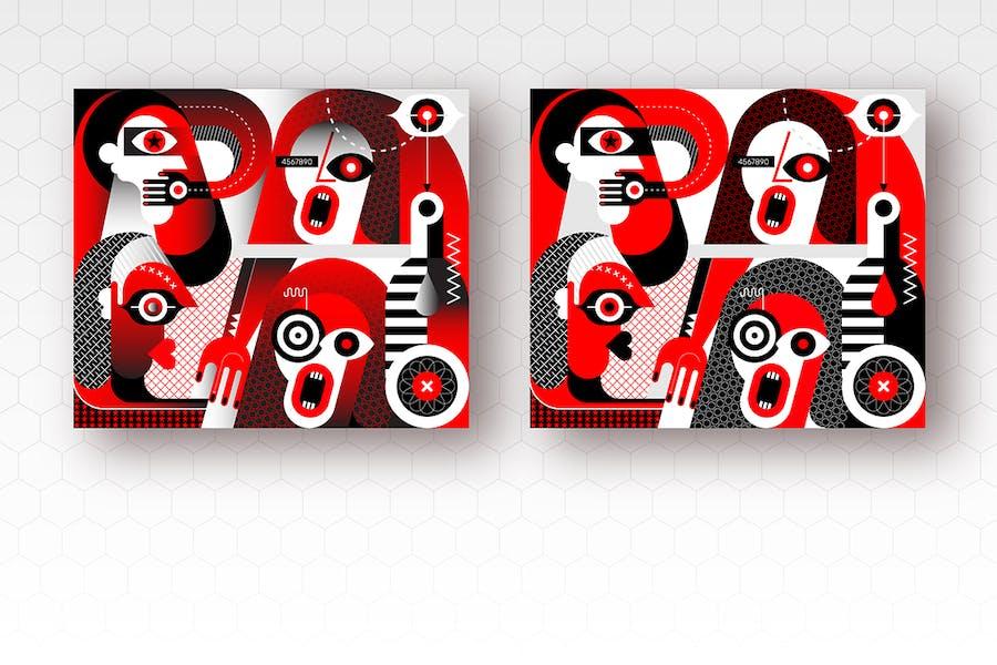 вектор ное произведение «Напряженный разговор четырех людей»