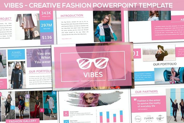 Thumbnail for Vibes - Creative Fashion Keynote Template