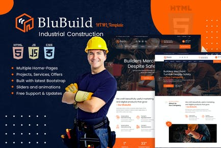 BluBuild - Industrial Construction HTML Template