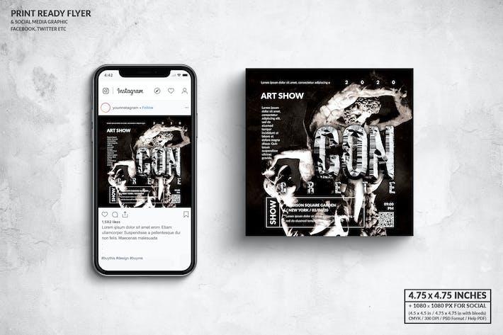 Concrete Art Show Square Flyer & Social Media