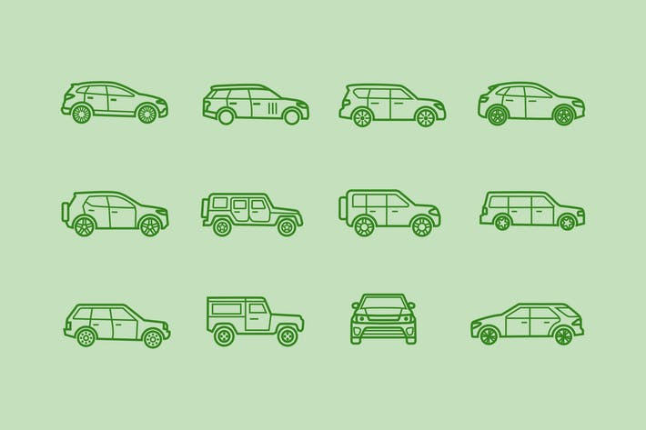 Thumbnail for 12 SUV Icons