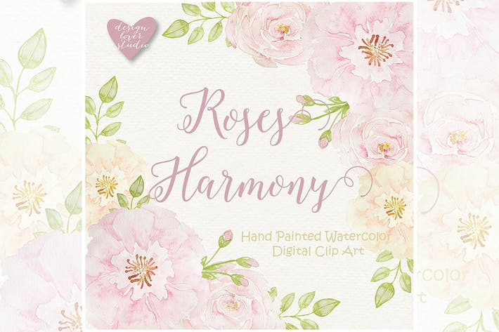 Thumbnail for Watercolor Rose Blush design