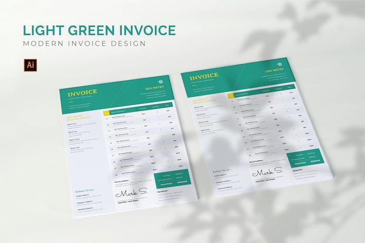Thumbnail for Light Green - Invoice Template