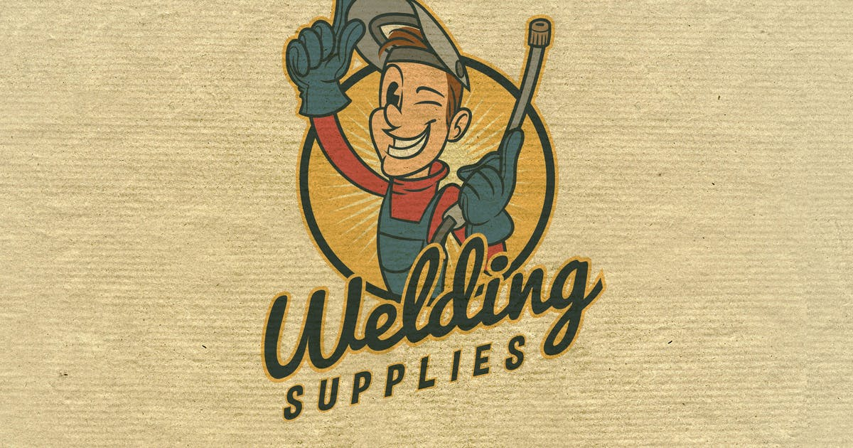 Download Retro Vintage Cartoon Welder Mascot- Welding Logo by Suhandi