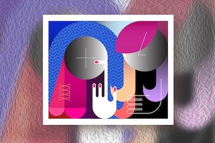 Две безликие женщины вектор иллюстрация