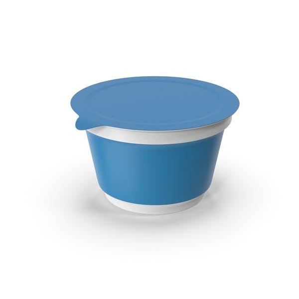 Голубая чашка сметаны